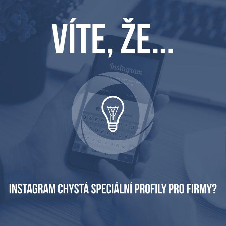 """Firemní profily na Instagramu budou obsahovat několik novinek včetně tlačítka """"kontaktovat"""" a zařazení značky do kategorie. Co na to říkáte? :-) https://www.sabanero.cz/"""