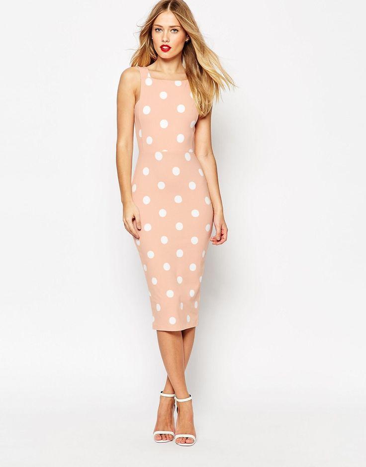 ASOS Spot Pinny Bodycon Dress