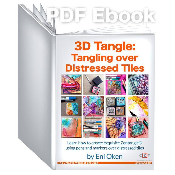 Learn how to create exquisite distressed Zentangle®️️ tiles • enioken.com