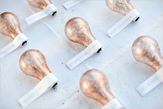 lightbulb escort cards styled by http://www.capitolromance.com/