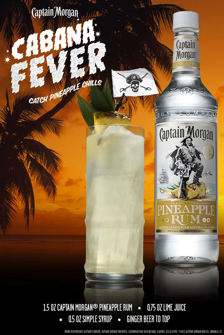 Be the Captain of the cabana this summer with this tasty recipe. Grab some Captain Morgan Pineapple Rum and mix up a Cabana Fever. #SunsOutRumsOut