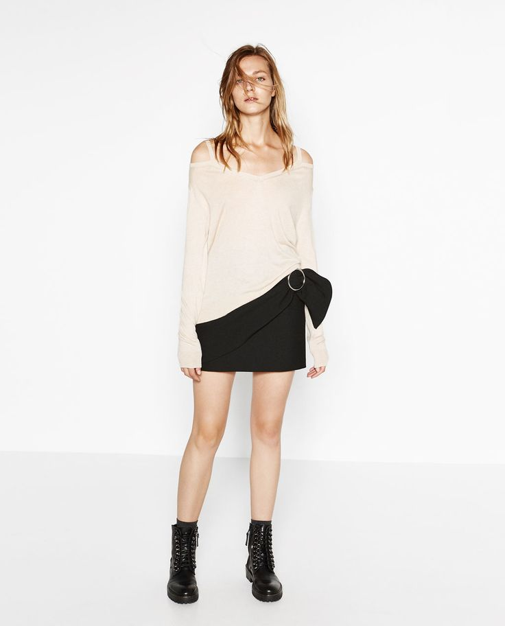 CUT-OUT SHOULDER SWEATER-View all-KNITWEAR-WOMAN   ZARA United States