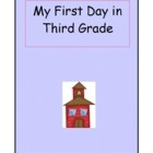 A keepsake for parents! This product includes a poem for the first day of school in third grade and a second page with space for a photograph of th...