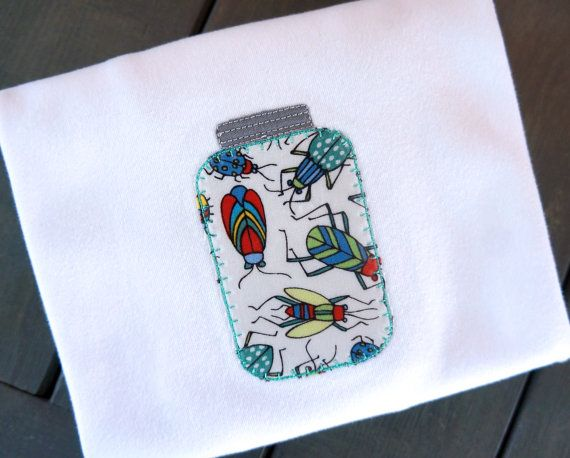 Bugs in a Jar Applique Shirt Boys Boutique by PalmValleyKids, $19.95