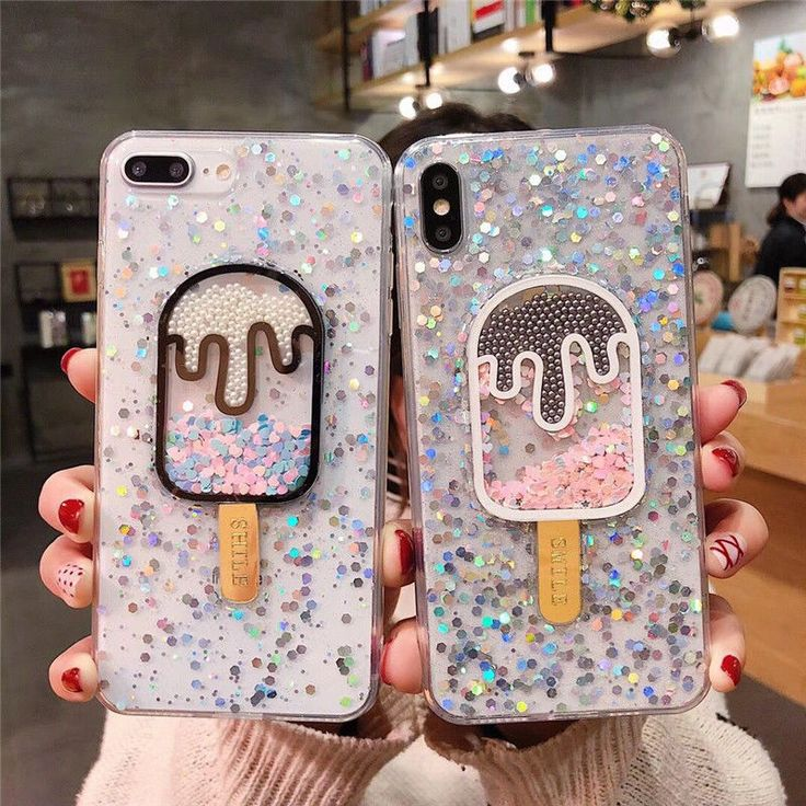 Details about 3D Cute Dynamic ice cream Glitter soft case Cover for iPhone 11 Pro Max XS 7 8+  – phones