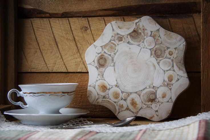 Juniper Wood Trivet, Natural Handmade Coaster, Rustic Home Decor, Wooden Kitchen Utensil, Untreated Wood by NaturalHomeTreasures on Etsy