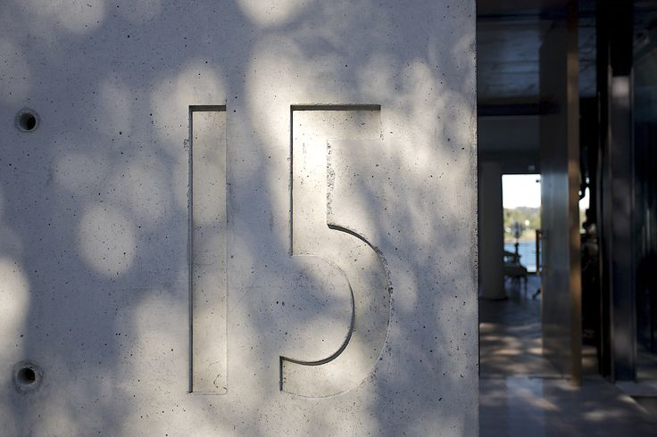 W House Concrete Wall Entry - Bruce Stafford Architects