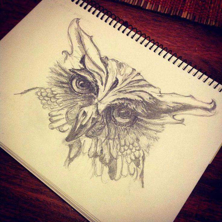 #draw21days. Day 16. Owl.