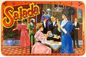 Vintage. Collection. Boîte en fer SALADA 100e anniversaire