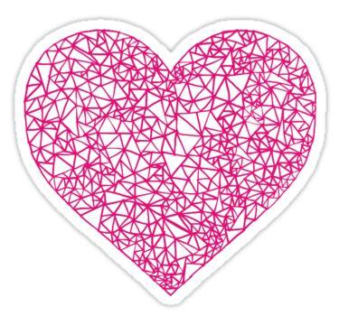60bdcd8f0 geometric triangle heart - pink  Sticker by rebecca-n-art in 2019 ...