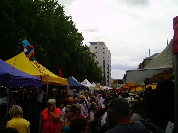 Salamanca Markets. Hobart, Tasmania, Australia.