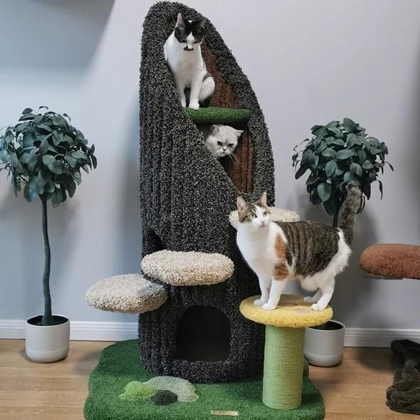 Unique Trunk And Grass Style Cat Tree In 2021 Cat Tree Cat Climbing Frame Cat Climbing