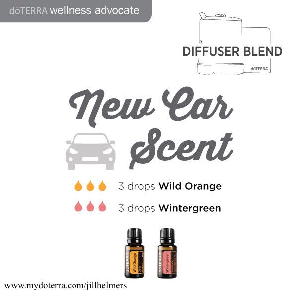 Has your car lost that new car smell?  Give this a try in your car diffuser or on a cotton ball.  #newcarsmell #smellsfresh #doterra