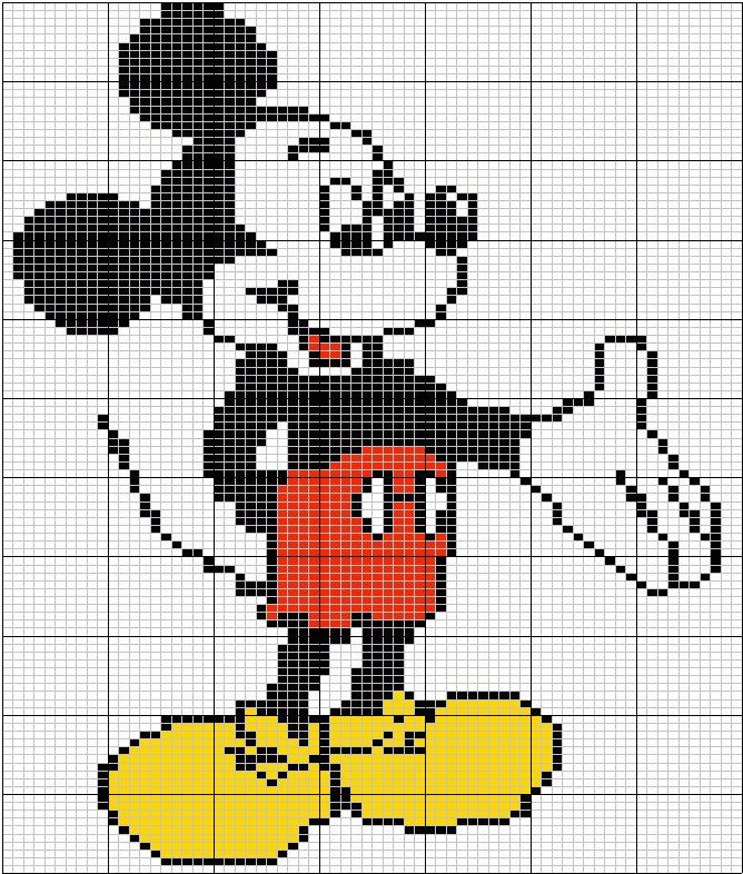 mickey mouse #crossstitch