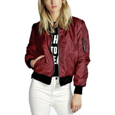 234be9929b5a1 ZANZEA Fashion Coats 2017 Autumn Winter Women Thin Jacket Bomber Long  Sleeve Coat Casual Stand Collar Outerwear Plus Size S-5XL
