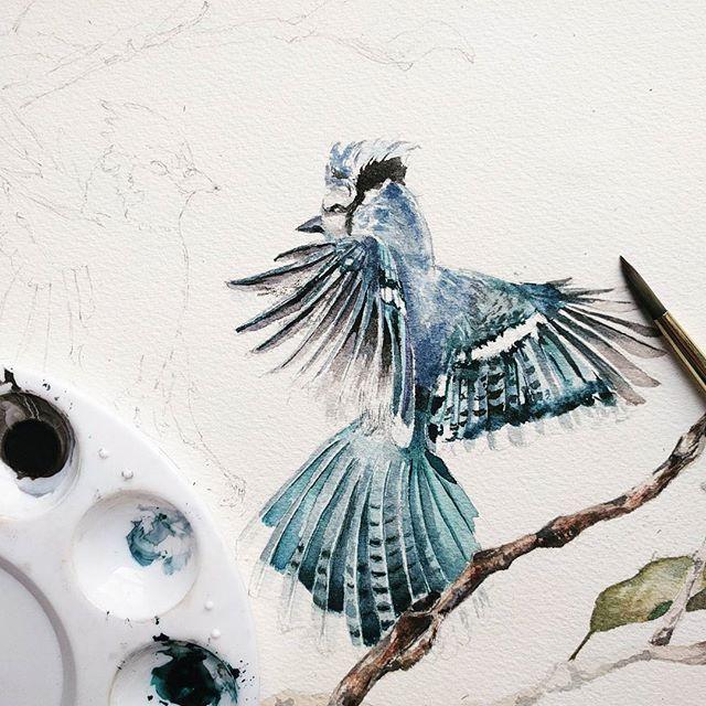 WEBSTA @ watercolor.blog - 🎨 Watercolorist: @_angelina_lg_#waterblog #акварель #aquarelle #painting #drawing #art #artist #artwork #painting #illustration #watercolor #aquarela
