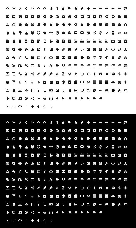 Free mono icon set