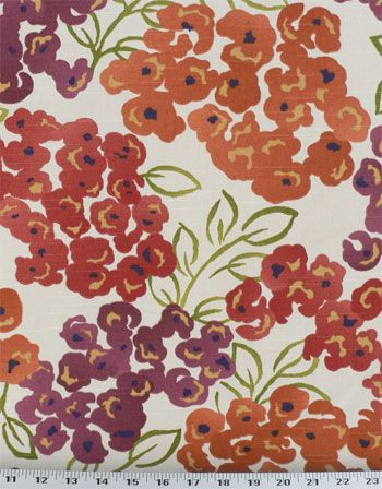 Luxury Floral Poppy | Online Discount Drapery Fabrics and Upholstery Fabric Superstore!