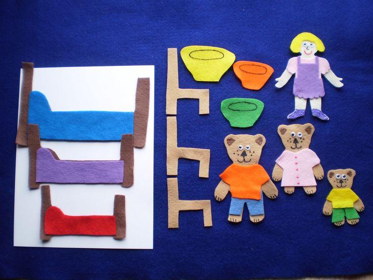Goldilocks and the 3 Bears Felt Board Set