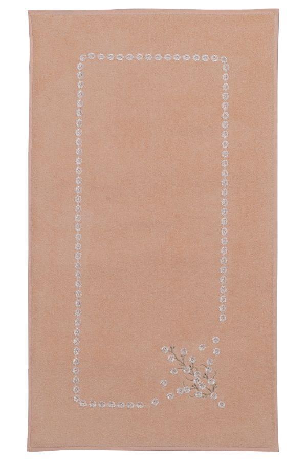Łazienkowe frotte dywaniki HAYAL 50x90cm. Miękkość, elegancki haft i chłonność są największymi zaletami tych dywaników.