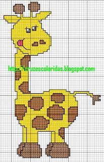 CHARMS AT CROSS POINT: Giraffes in Cross Stitch