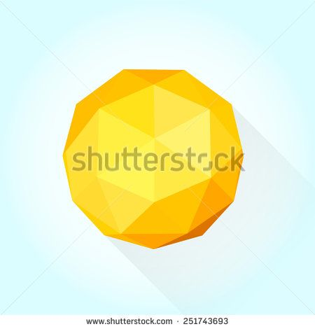 Modern vector 3D geometric sun - stock vector