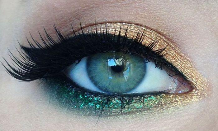 Maquiagem para a Copa do Mundo #makeup #verde #amarelo #olhos #beleza