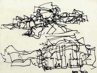Frank Gehry, Puente de Vida: Panama Museum of Biodiversity, drawing.
