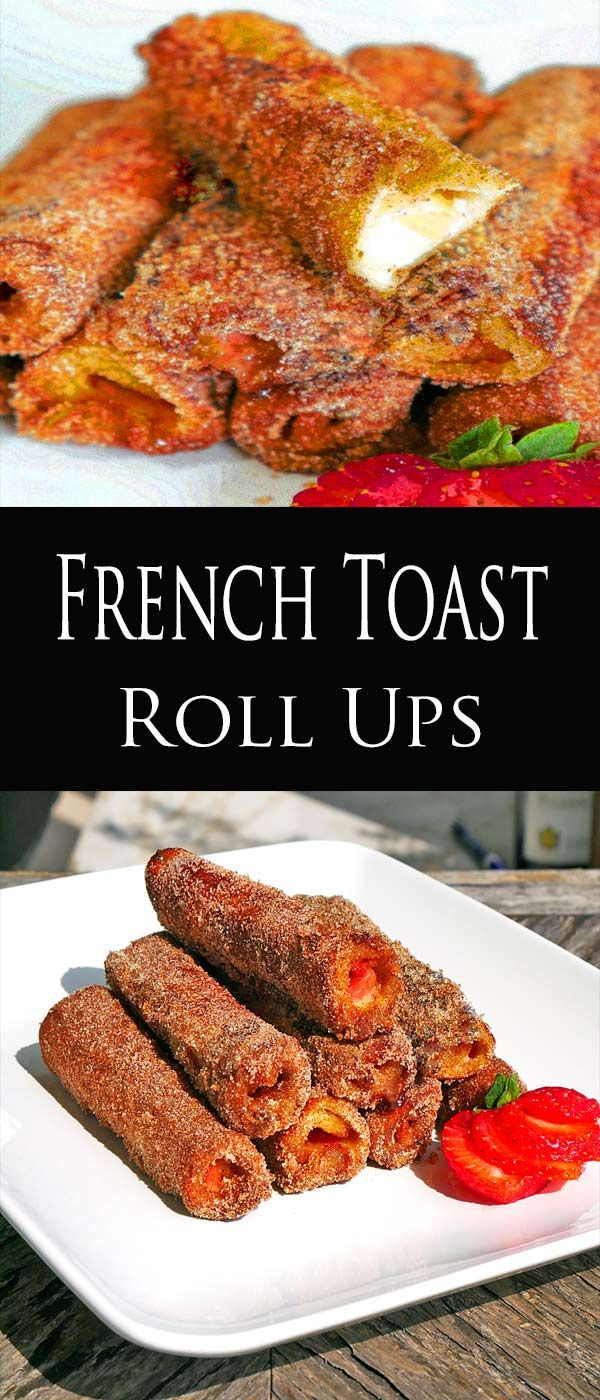 French Toast Roll Up'sTaking something already awesome, French Toast, and make it even better, if that's even possible. French toast roll upsare a creation that reminds me of a fusion dish of the MexicandessertChurrosand French Toast. The best part is your kids will flip out for this breakfast treat or dessert. This is the kind of recipe you'd have no problem getting the kids to help out with. butter-n-thyme.com #breakfast #brunch #frenchtoast
