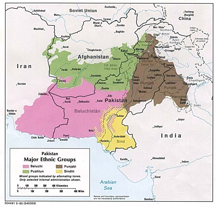 Major ethnic groups in Pakistan.
