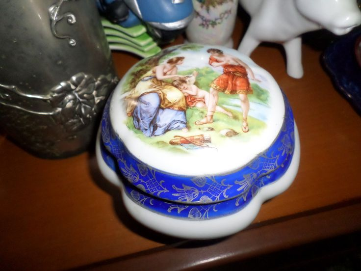 Porcelain box Vintage and Romantic by StrangeAttachments on Etsy