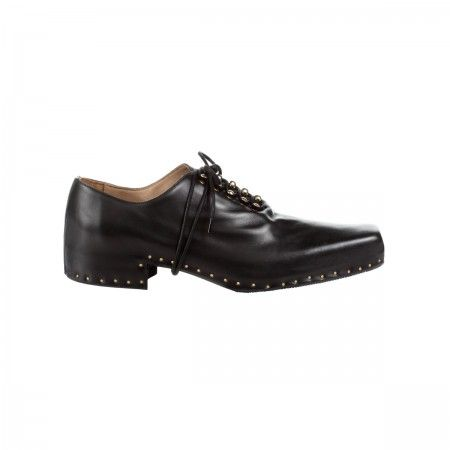 Lacrom - Maria Biandr - Amon Unisex Derby shoes in French calf.  Hand-nailed.