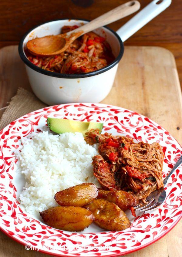 Carne Desmechada o Ropa Vieja (Shredded Beef) |mycolombianrecipes.com