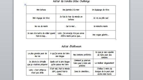 Jogging d'écriture : sujet d'Halloween et du Vendée Globe