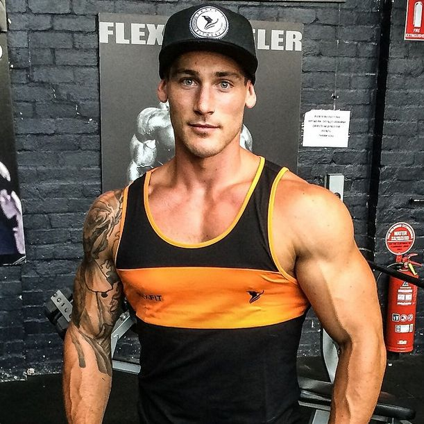 Jason Kerger (@jasekerger) looking on point his Premier Tank top and Stamp Snapback hat, both available now at www.phxfitpopup.com