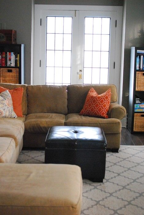 Old House French Doors Accent Colors Living Room Sectional Tan
