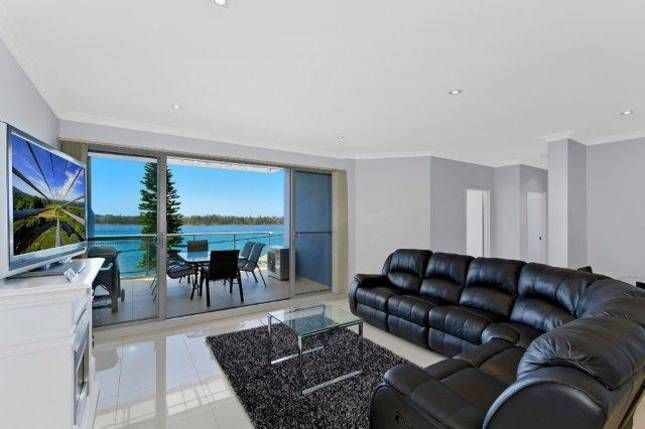 Balcony View: Lakeside Waterfront Apartment 18 in The Entrance