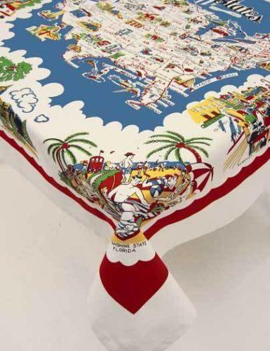 Moda Vintage Style Tablecloth American Wonderland | EBay