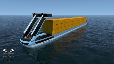 We are thrilled to share with you that Port-Liner is gearing up to launch our #design for the first fully-electric zero-emissions #autonomous #container #barges in #Europe as soon as this #summer.  Dubbed Tesla ships across reports these barges will be the #first in the #world to #sail on carbon-neutral batteries and also the only to house the battery in a container that can be stored on any vessel.  The rollout is planned for August and will see five of the 52 meter (170 ft) long 6.7 (22…