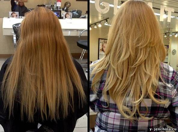 Картинки по запросу многослойная стрижка на длинные тонкие волосы