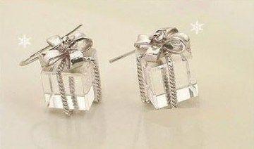 Gift Box Crystal Earrings