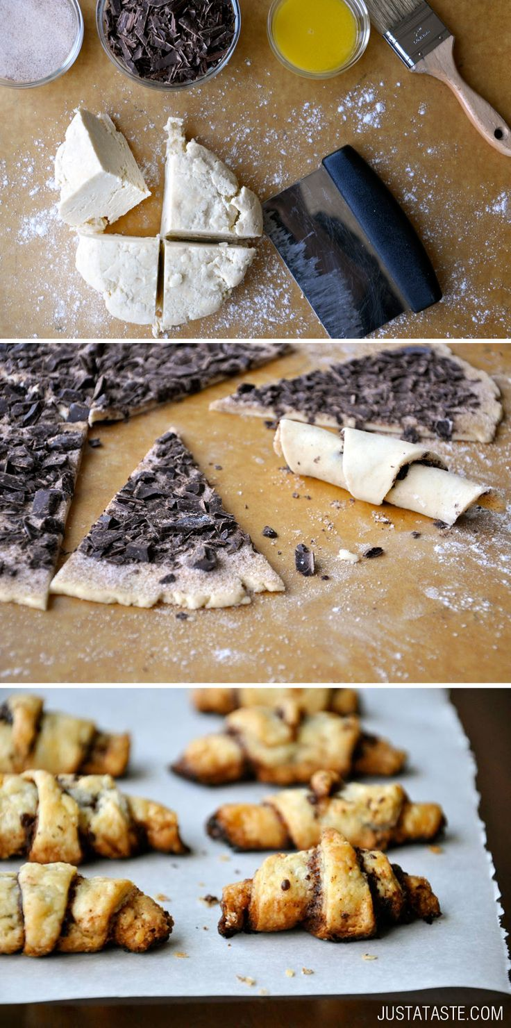 Chocolate Rugelach recipe via justataste.com