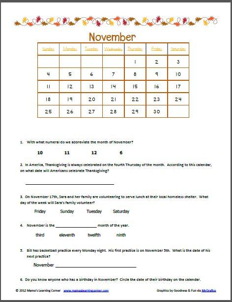 Calendar Activities For Kindergarten : Ideas about calendar worksheets on pinterest