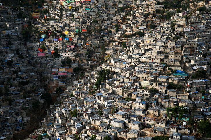 Jalousie slums in Pétionville in the suburbs of Port au Prince Haiti  Photo by Yann-Arthus Bertrand [2150x1433]