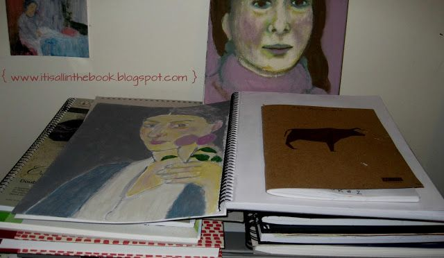 it is all in the book!: Sketchbook love.