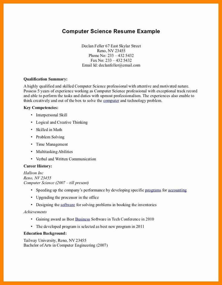 25 best computer science resume in 2020 resume objective
