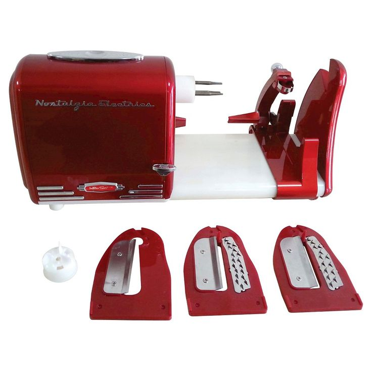 Nostalgia Retro Series Electric Spiral Twister & Peeler - Red PT300RETRORED