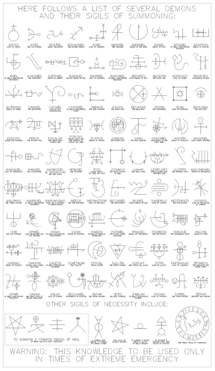 sigils---these should be studied very carefully of what NOT to call up. - Pinned by The Mystic's Emporium on Etsy