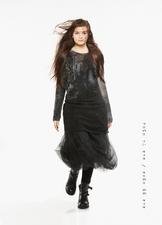This Rundholz net skirt is great for layering.