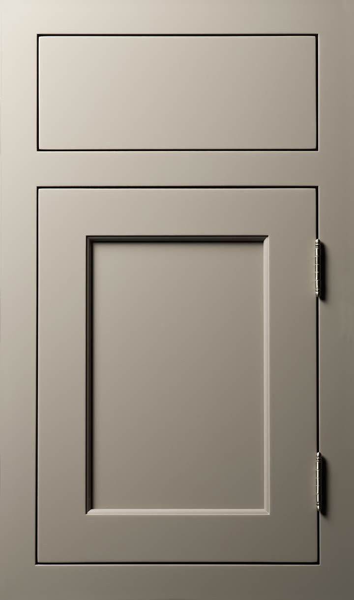 Vogue door done in Maple Vista Gray- love gray cabinets. Should have gone gray.